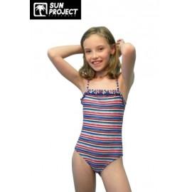 SUN PROJECT Kid's 1 Piece Swimsuit Multi Stripe