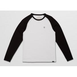 Tee Shirt Long Sleeves Junior Volcom Pen Black