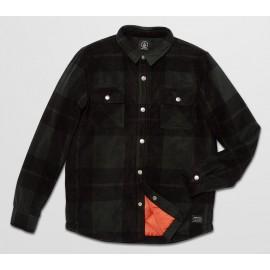 Volcom Bowered Junior Fleece Overshirt Beetle