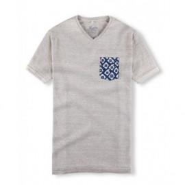 Tee Shirt Man HOALEN Notenn Beige Melange