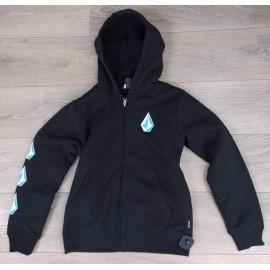 VOLCOM Iconic Stone Lined Black Sherpa Lined Sweatshirt