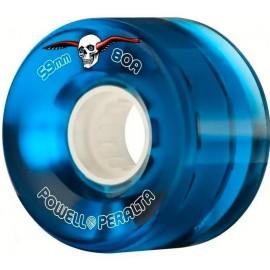 Powell Peralta Clear Cruiser Skateboard Wheels Blue 59mm 80A