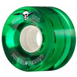 Powell Peralta Clear Cruiser Skateboard Wheels Green 59mm 80A