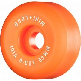 Mini Logo Wheels A Cut 53mm 90A Orange