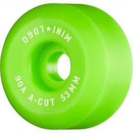 Mini Logo Wheels A Cut 53mm 90A Green