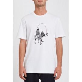 Tee Shirt Volcom Ass Off White