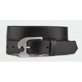 Volcom Skully Black Leather Belt