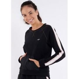 Women's Sports Sweatshirt BANANA MOON Boxi Running Black