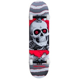 """Powell Peralta Ripper One Off 8.0 """"Silver Complete Skateboard"""