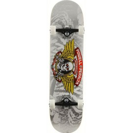 """Powell Peralta Winged Ripper 8.0""""Silver Complete Skateboard"""