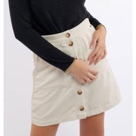 BANANA MOON Mirco Velveti Skirt Ecru