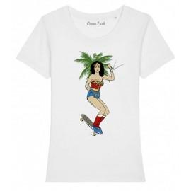 OCEAN PARK Wonder Skate Women's White Tee Shirt