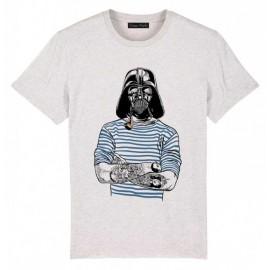 Tee Shirt Homme OCEAN PARK Le Tatoue Blanc Cassé Chiné
