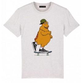Tee Shirt Homme OCEAN PARK Ile Aux Skaters Blanc Cassé Chiné