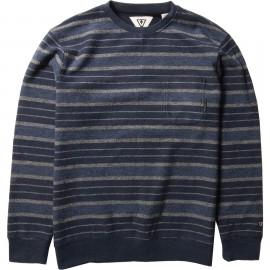 Crew Sweatshirt Man VISSLA Soft Top Pocket Dark Denim