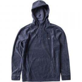 Fleece Sweatshirt Man VISSLA Eco Zy Popover Navy