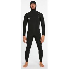Volcom Modulator Hood Chest Zip 5/4/3mm Men Wetsuits Black