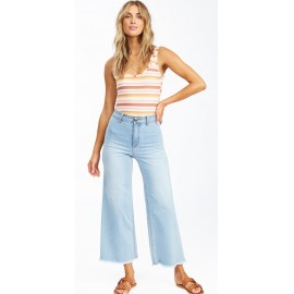 Pantalon Jean Taille haute Femme BILLABONG Free Fall Indigo