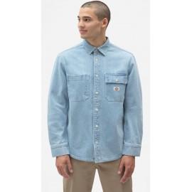 Dickies Kibler Vintage Long Sleeve Shirt Aged Blue