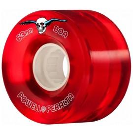Powell Peralta Clear Cruiser Skateboard Wheels Red 63mm 80A