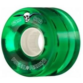 Powell Peralta Clear Cruiser Skateboard Wheels Green 63mm 80A