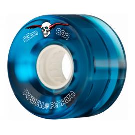 Powell Peralta Clear Cruiser Skateboard Wheels Blue 63mm 80A