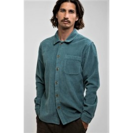 RHYTHM Corduroy Men's Velvet Shirt Sea Green
