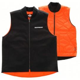 Blouson Sans Manche Independent Groundwork Réversible Black/Orange