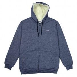VISSLA Roamer III Sherpa Lined Sweatshirt Eco Dark Navy Heather