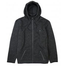 VISSLA Fleece Zip Sweatshirt Shepen Charcoal Heather