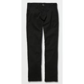 VOLCOM Frickin Modern Stretch Black Junior Chino Pants