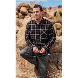 VOLCOM Caden Plaid Bleached Wren Men's Shirt