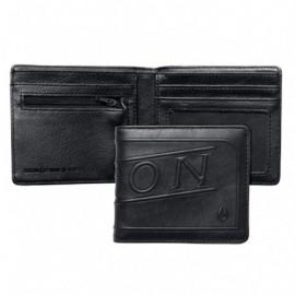 Portefeuille Nixon Labelled Bi Fold Zip Wallet Black