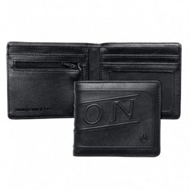 Portefeuille Nixon Labelled Bi Fold Zip Wallet Black