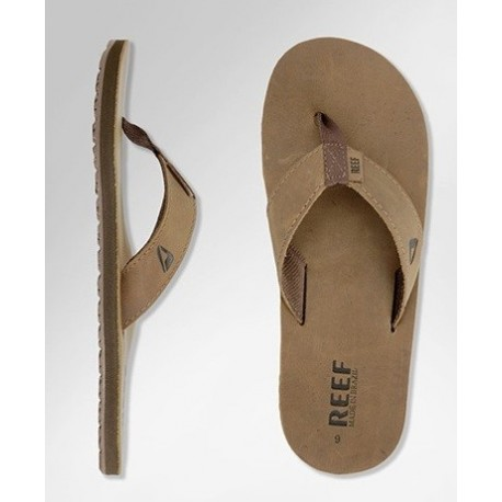 Tong Reef Leather Smoothy Bronze Brown 1
