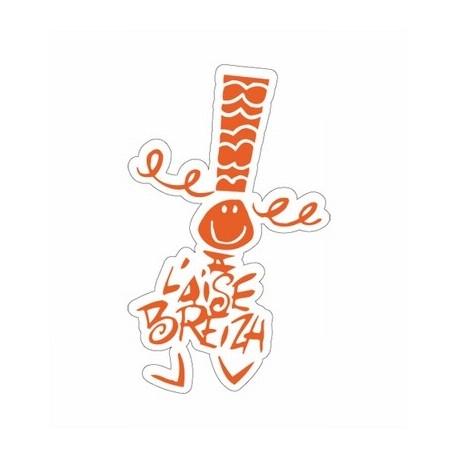 Autocollant Bigoudene Grand ( 25cm)Orange