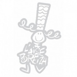 Autocollant Bigoudene Moyen ( 19 cm)Blanc