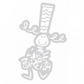 Autocollant Bigoudene petit (11.50cm)blanc