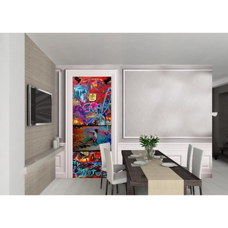 tapisserie murale pour porte ola ketal sign r mi bertoche surf 002 breizh rider. Black Bedroom Furniture Sets. Home Design Ideas