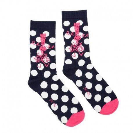 Socks To Aise Breizh H16-17 Big Dots Fuchsia
