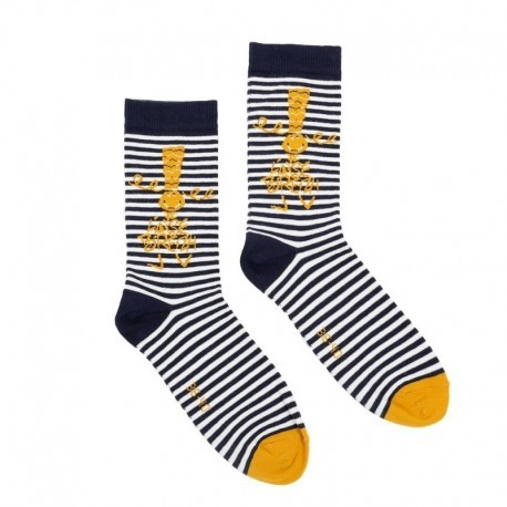 Socks To Aise Breizh H16-17 Striped Marin Mustard