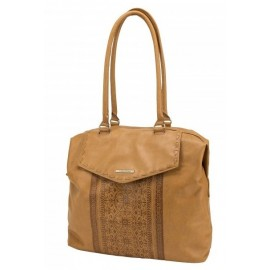 Handbag Tote Volcom Rebel Pink Tan