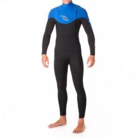 Wetsuit Rental Rip Curl Dawn Patrol Chest zip 3/2mm Blue