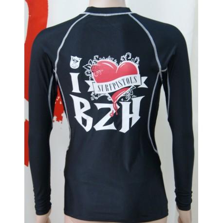 Lycra Surf Pistols I Love BZH Manches Longues Noir