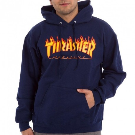 Sweat Capuche Thrasher Flame Navy