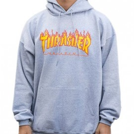 Sweat Capuche Thrasher Flame Grey