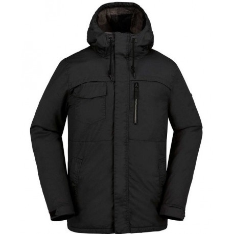 Man Coat Volcom Monrovia Ins Black