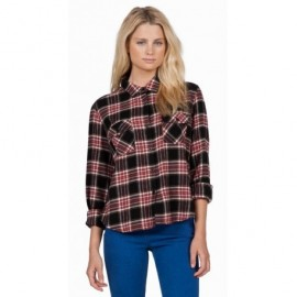 Chemise Volcom Cozy Day Cropped Black Combo