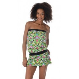 Robe Banana Moon Beachwear Tulum Vert Tropical