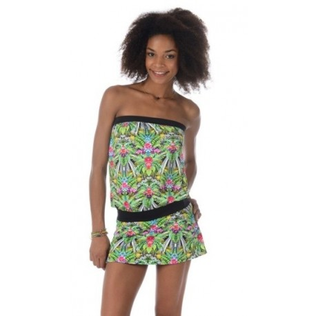 Dress Banana Moon Beachwear Tropical Green Tulum